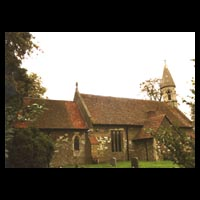 Exterior view of St. Michael, Billington
