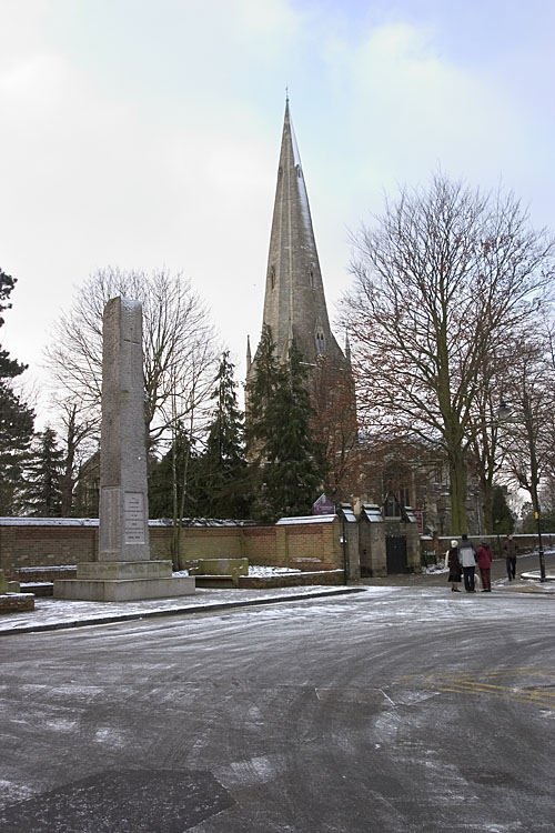 All Saints Church and the War Memorial, Leighton Buzzard