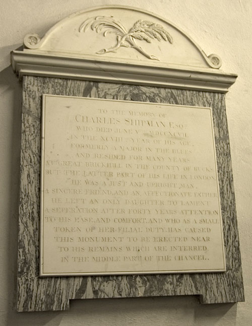 Memorial, St. Mary the Virgin, Old Linslade