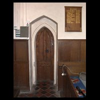 Vestry doorway, St. Michael, Billington