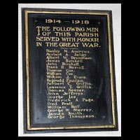 Roll of Honour, St. Michael, Billington
